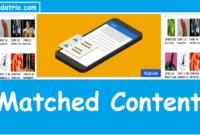 Mendapatkan dan Memasang Matched Content Adsense