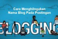 Menghilangkan Nama Blog