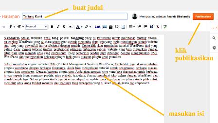 contoh halaman tentang blog