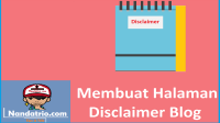 halaman disclaimer blog