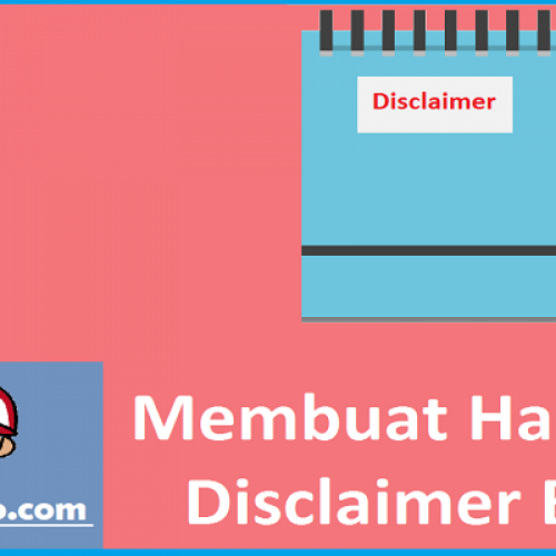 halaman disclaimer blog