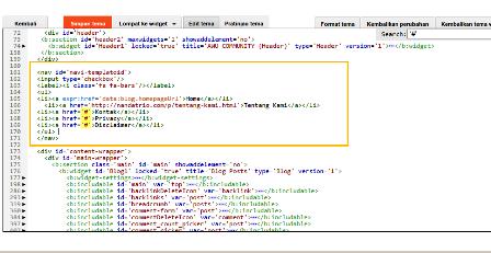 halaman statis dengan html