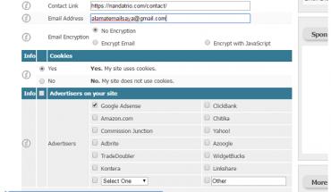 membuat halaman privasi blog