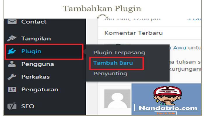 menambahkan plugin wordpress