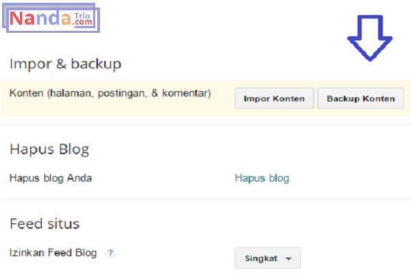 backup blogspot