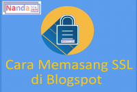 Cara Memasang (HTTPS) SSL di Blogspot