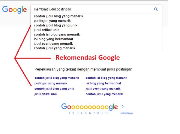 mencari kata kunci lewat google