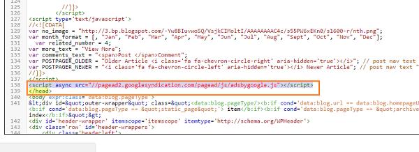 memasang script iklan html