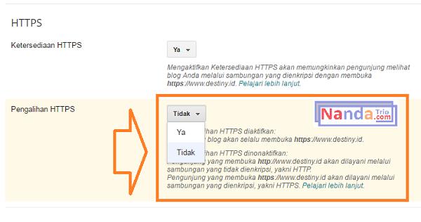 pengalihan https blogspot