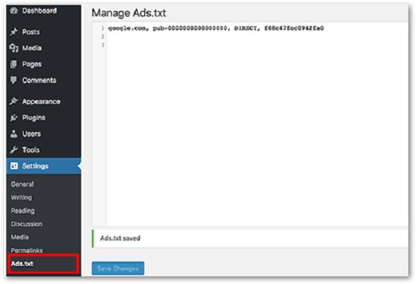 mengatasi error ads txt pada wordpress