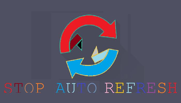 menonaktifkan auto refresh