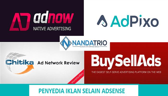 8 Penyedia Iklan Selain Adsense Sebagai Alternatif Penghasilan